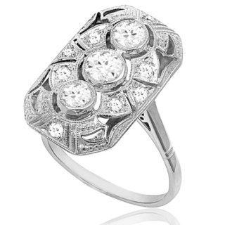 C'est Chic... Original French Art Deco Plaque ring -0