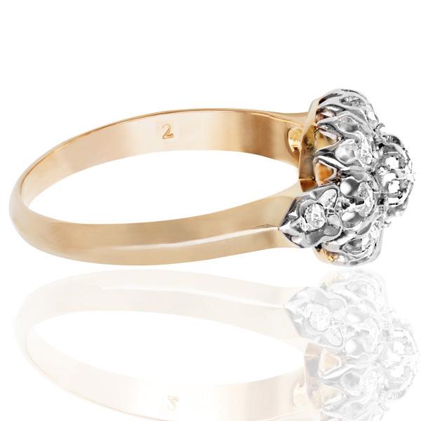 French Fleur... Original Art Nouveau Diamond Daisy ring -3703