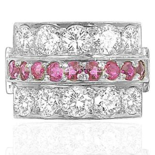 Platinum... 1940s Ruby and Diamond ring -3628