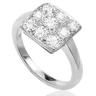 Divine... Art Deco Platinum Diamond ring -0