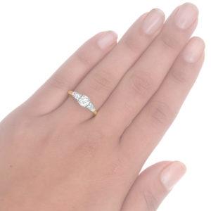 Together Forever... Original Art Deco Diamond Engagement ring -3600