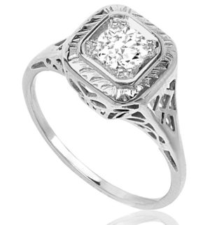 So Sparkling... Original Art Deco Diamond Engagement ring -0