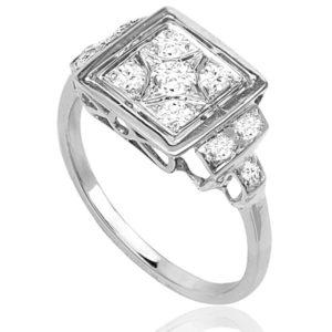 French Star... Original Art Deco Diamond ring -0