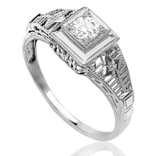 New York... Original 1920s Diamond Engagement ring -3612