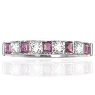Original Art Deco Ruby and Diamond ring -0