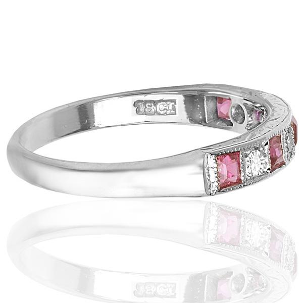 Original Art Deco Ruby and Diamond ring -3727