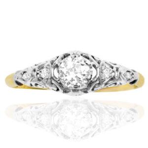 ***SOLD*** True Love... Original Art Deco Diamond Engagement ring -0
