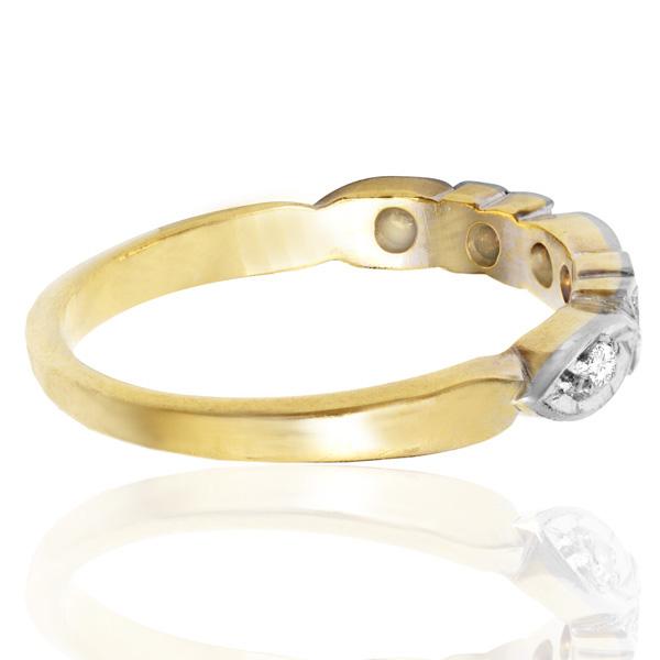 Sculptural... Original Art Deco Diamond Wedding Band -3699