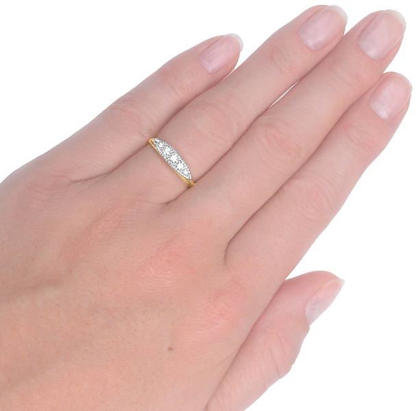 Sparkling... Original Art Deco 5 Stone Diamond ring -3714