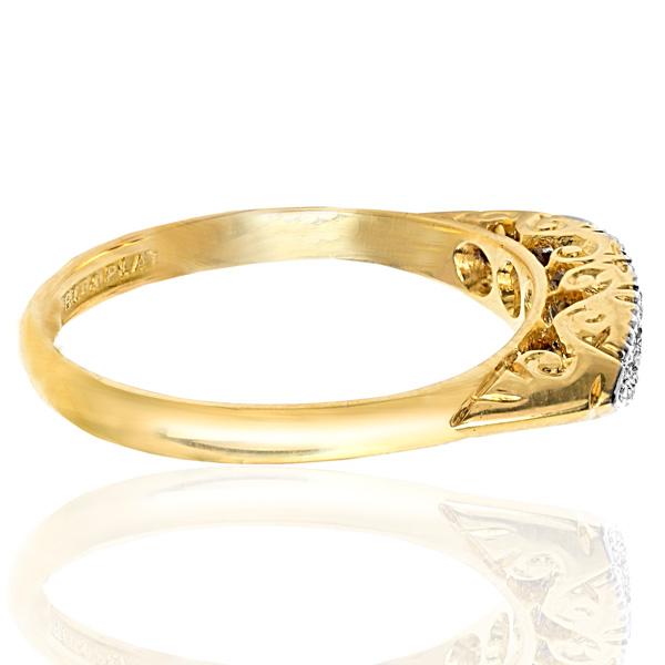 Sparkling... Original Art Deco 5 Stone Diamond ring -3715