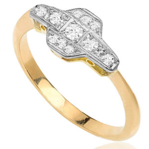 London Lovely... Original Art Deco Diamond ring -0