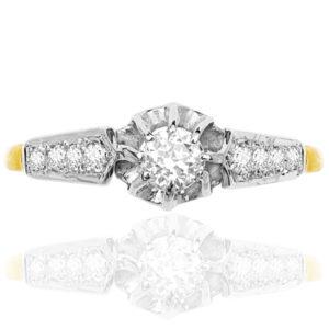 Vintage Bride... Original Diamond Engagement ring -3759