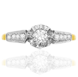 Vintage Bride... Original Diamond Engagement ring -3759