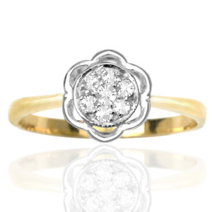 Funky Daisy... Original Art Deco Diamond ring -0