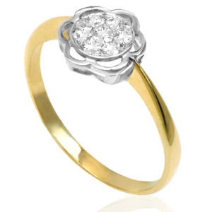 Funky Daisy... Original Art Deco Diamond ring -3754