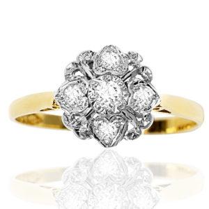 Queen of Hearts... Original Art Deco Diamond ring -0