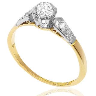 Dream of Me... Original Art Deco Engagement ring -0