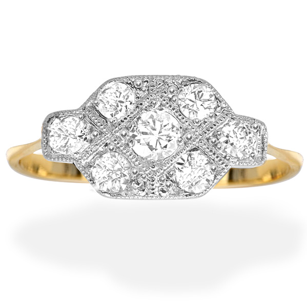 6eda2524dc9f6 Sparkling... Original Art Deco Diamond ring - Helen Badge Jewellery
